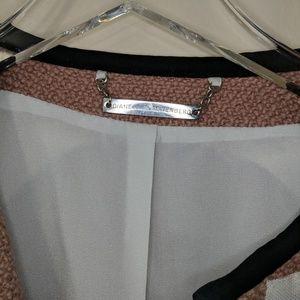 Diane von Furstenberg Jackets & Coats - DVF | Pink Wool Lined Cropped Bomber Jacket